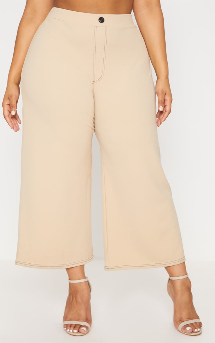 Plus Stone Stitch Detail Culottes 2