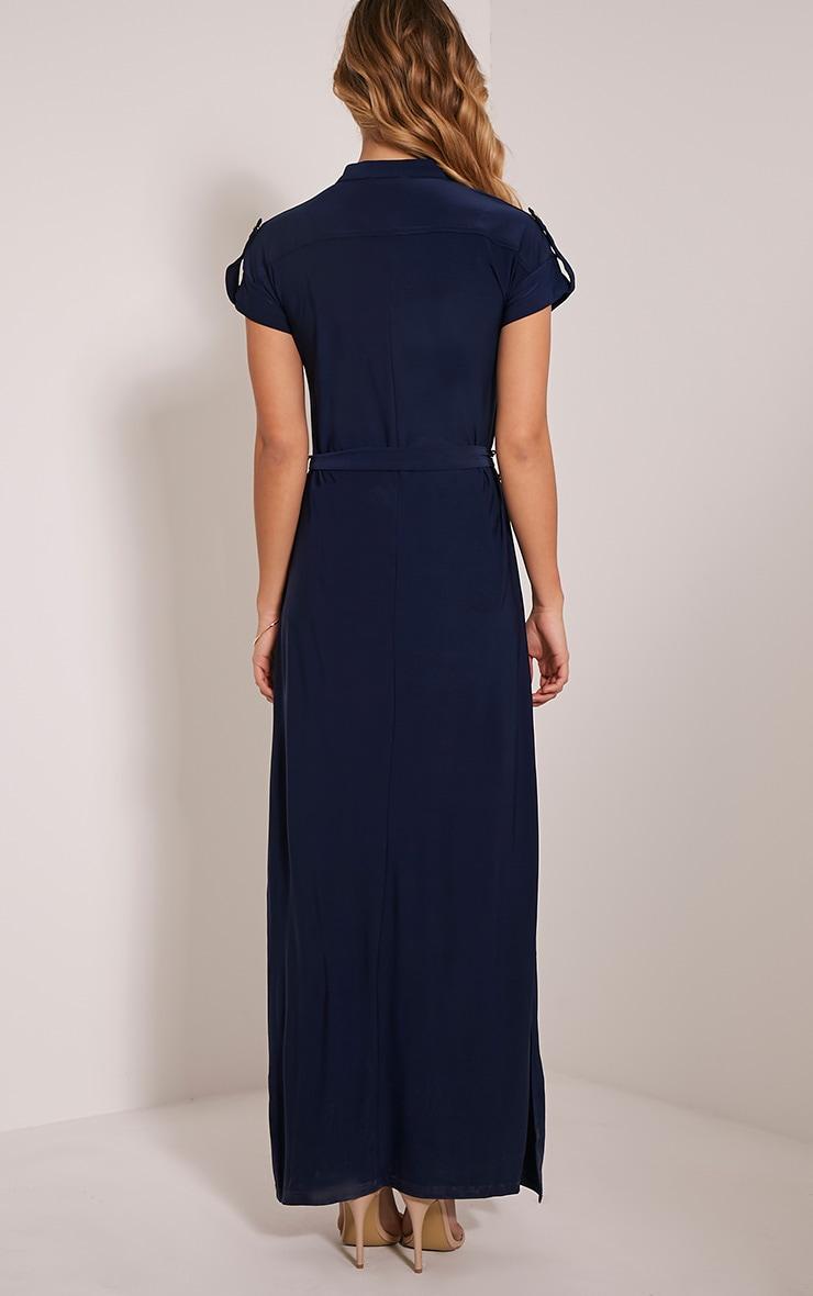 Larrie Navy Utility Maxi Dress 2