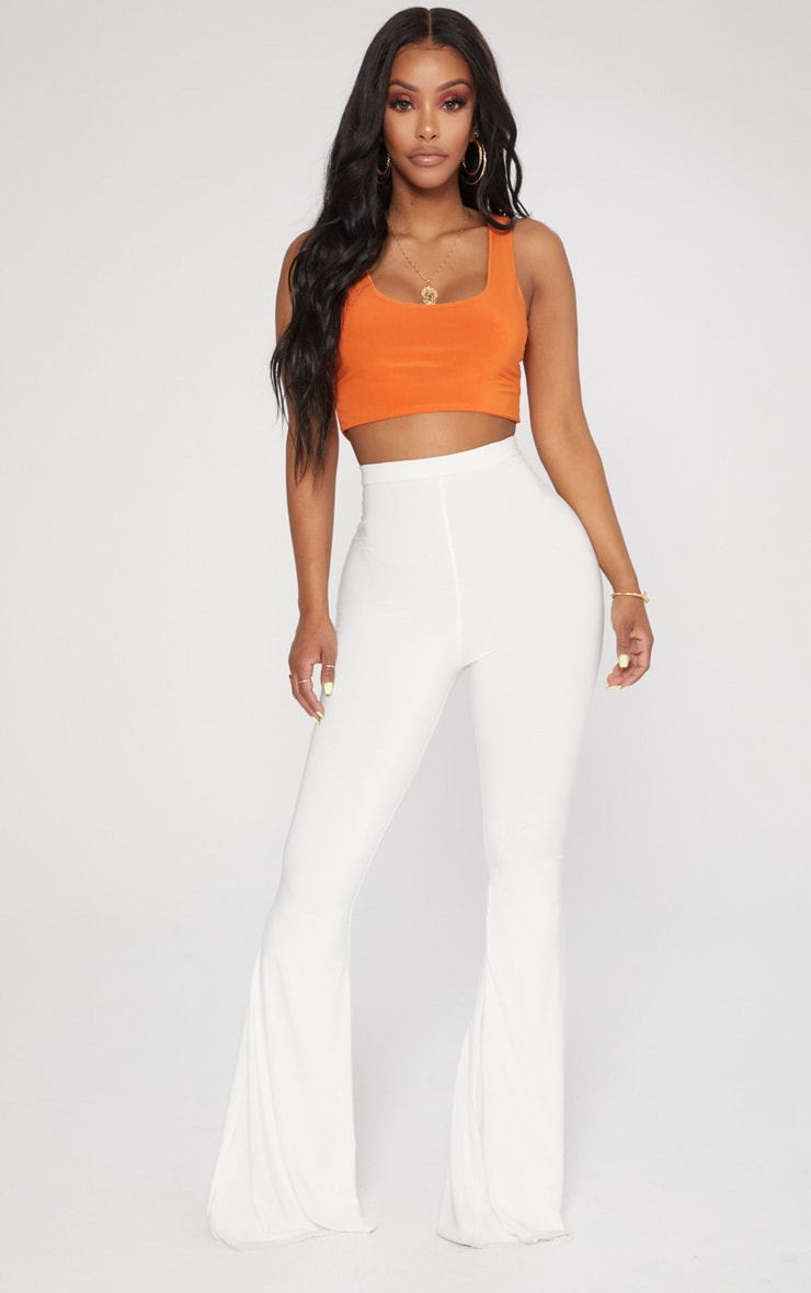 Shape Orange Slinky Square Neck Crop Top 4