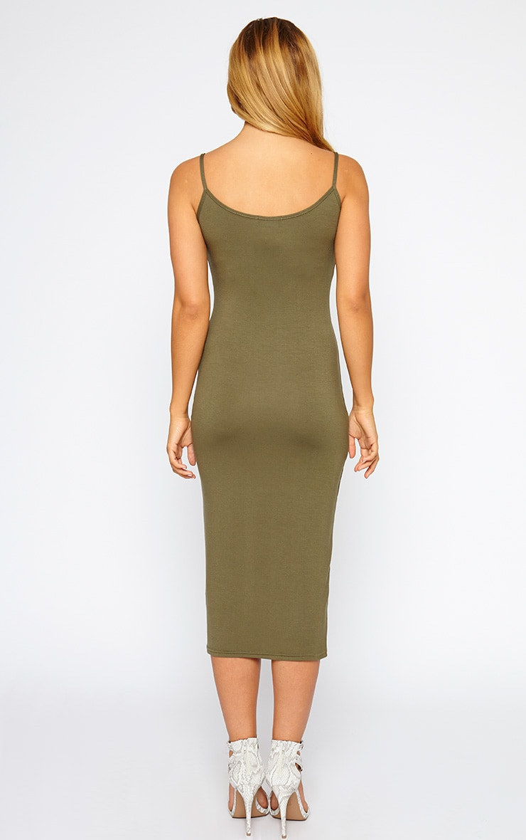 Madelyn Khaki Midi Vest Dress 2