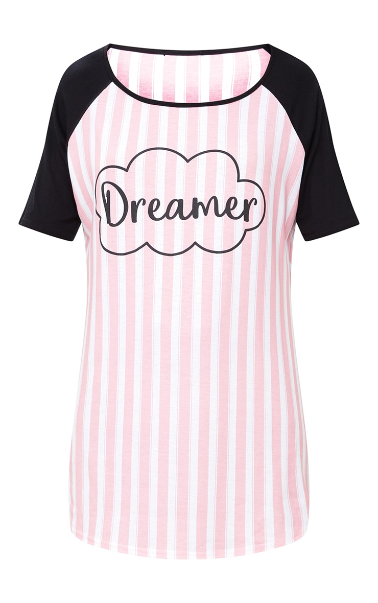 Pink Dreamer Striped Nightie 3