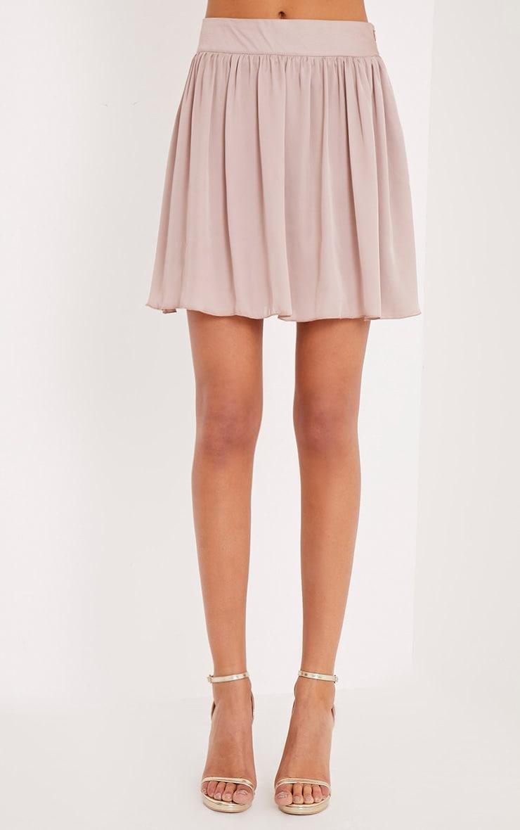 Ostara Stone Floaty Satin Mini Skirt 2