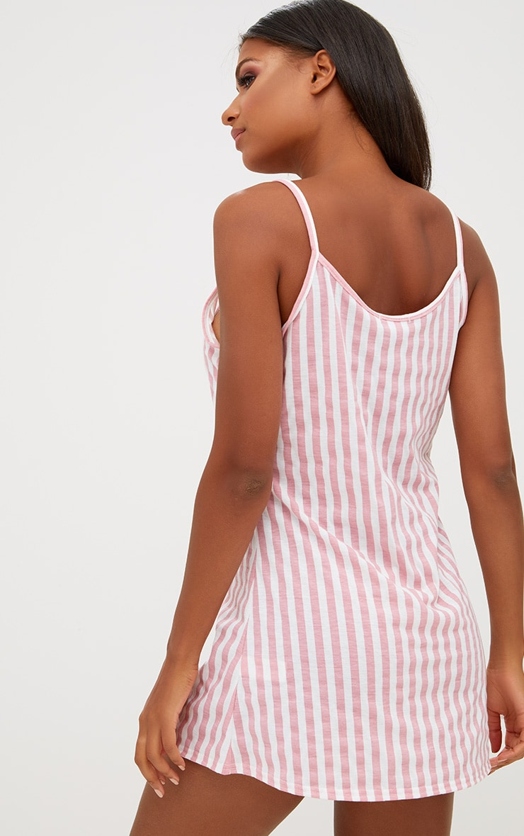 Pink Striped Nightie 2