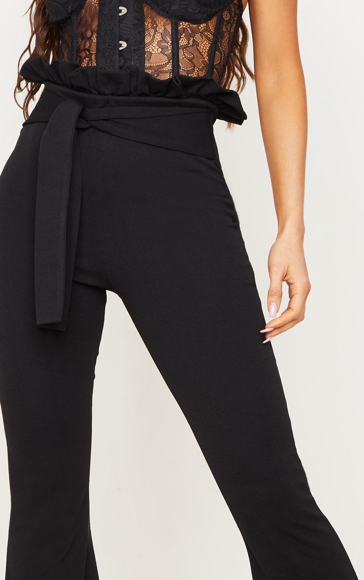 Black Paperbag Waist Flared Trouser 5