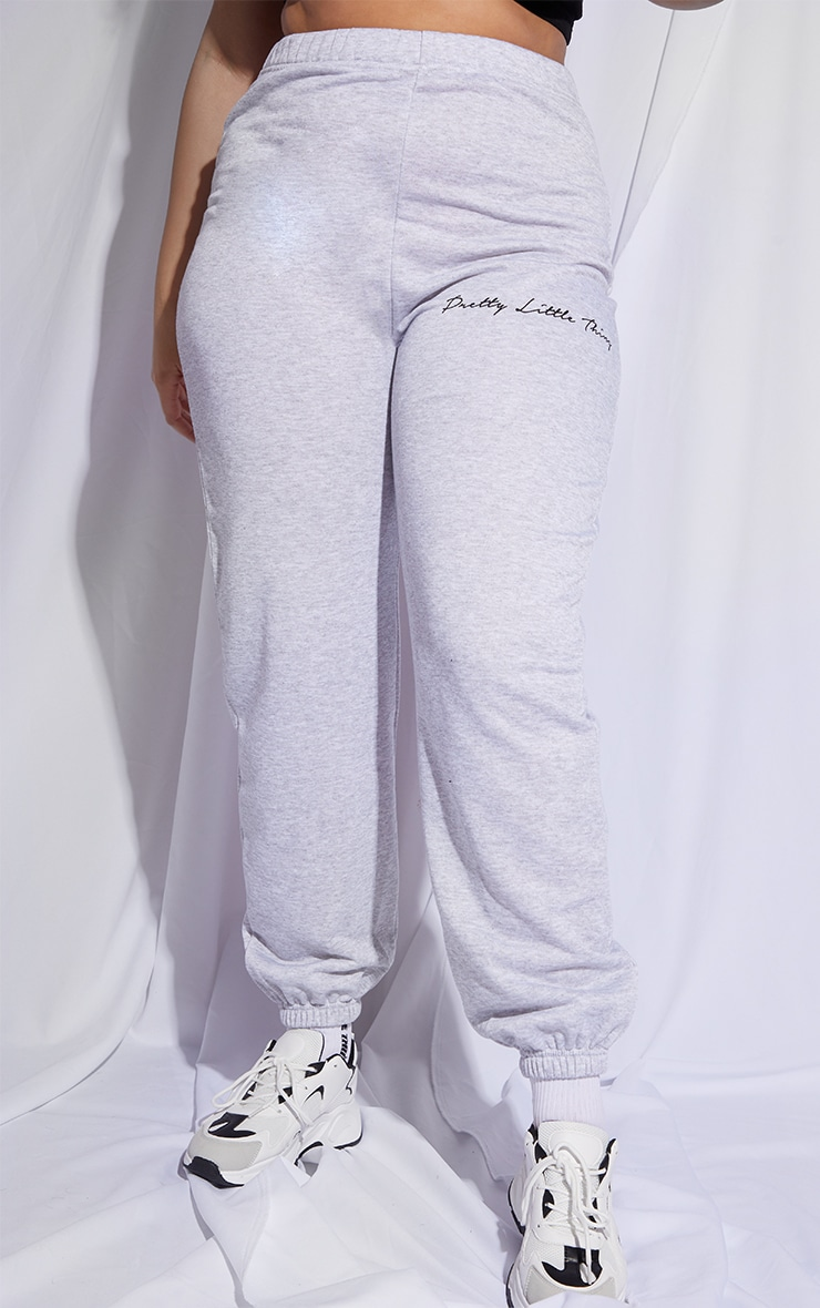 PRETTYLITTLETHING Plus Grey Printed Joggers 2