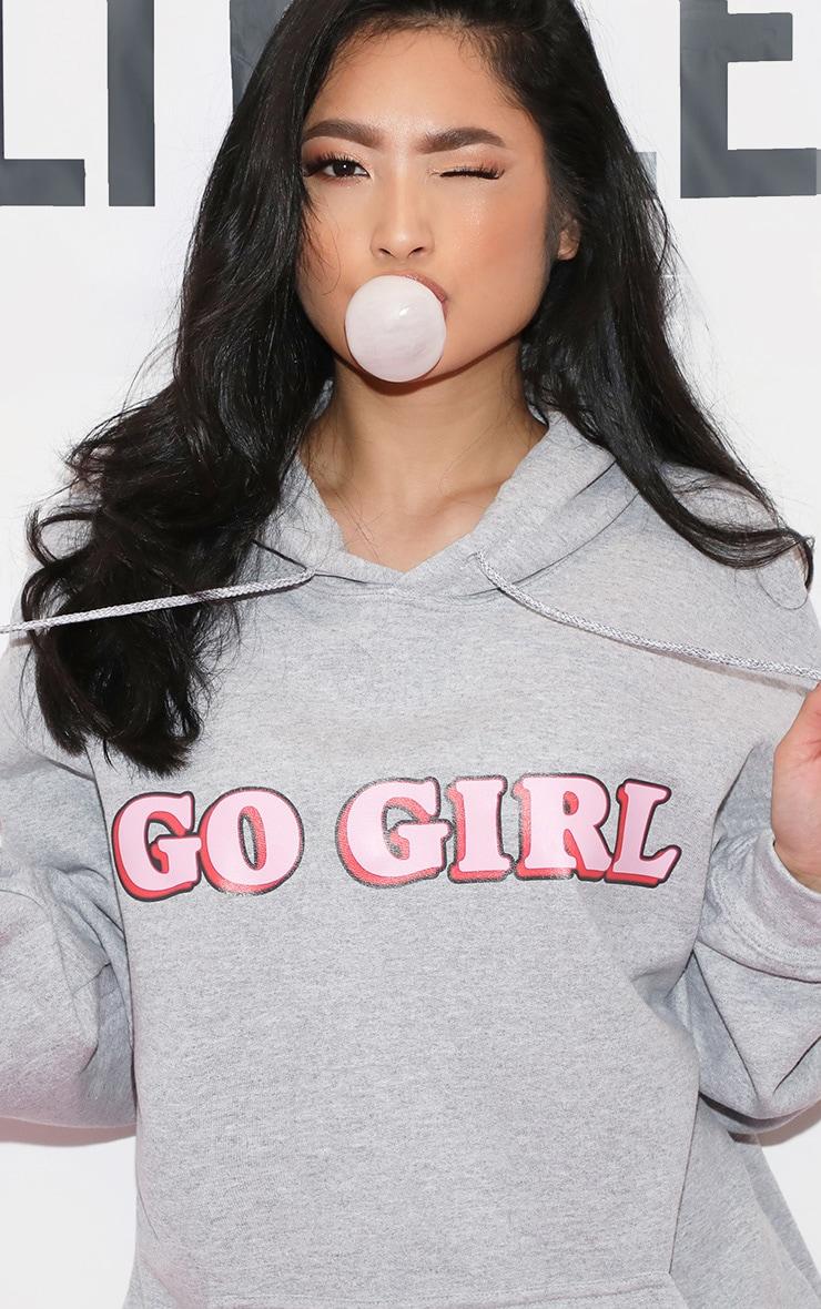 GO GIRL Hoodie Grey 1
