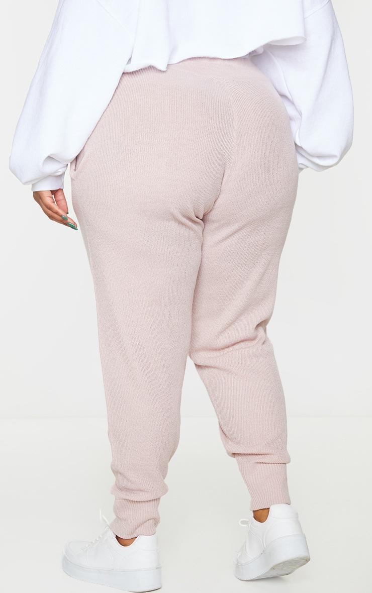 Plus Blush Knit Joggers 3