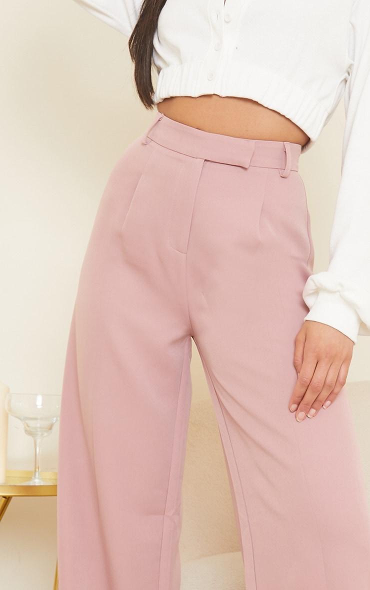 Mauve Woven Tailored Wide Leg Pants 4