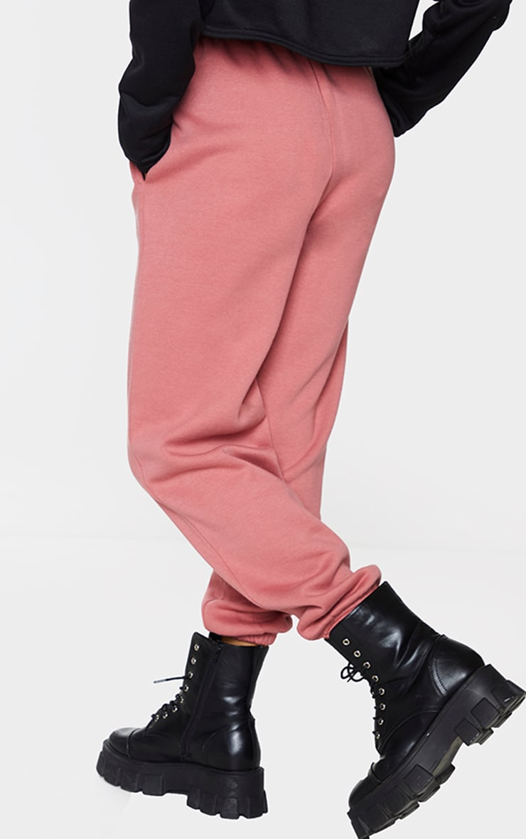 PRETTYLITTLETHING Dusty Rose Barcode Joggers 3