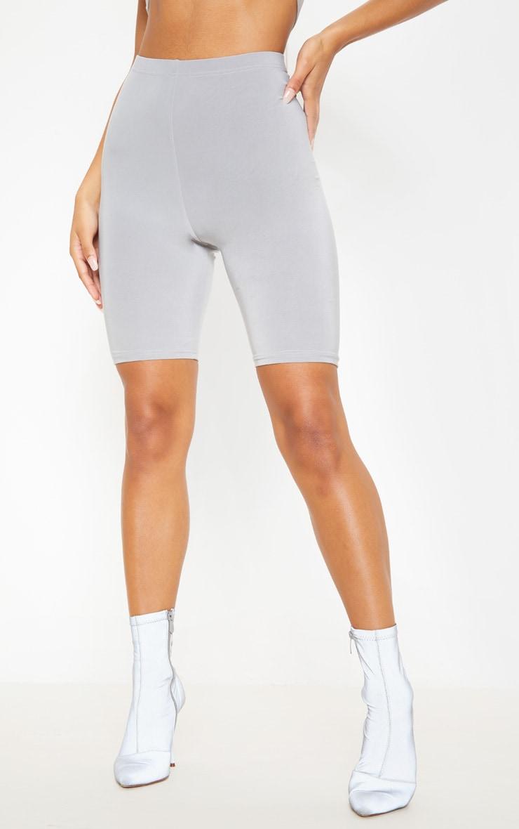 Short-legging  gris taille haute 2