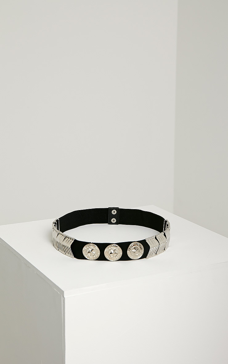 Kai Silver Disc Elasticated Belt 3