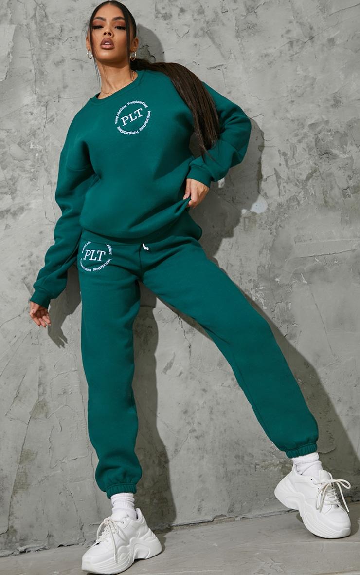 PRETTYLITTLETHING Emerald Circle Logo Sweatshirt 3