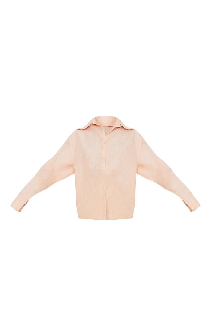 Petite Coral Oversized Shirt 5