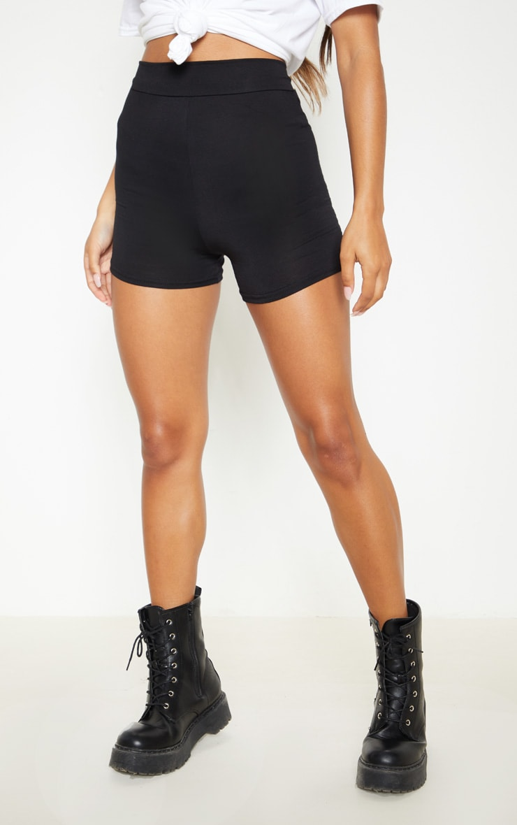 Black and Grey Jersey 2 Pack Hot Pants 2