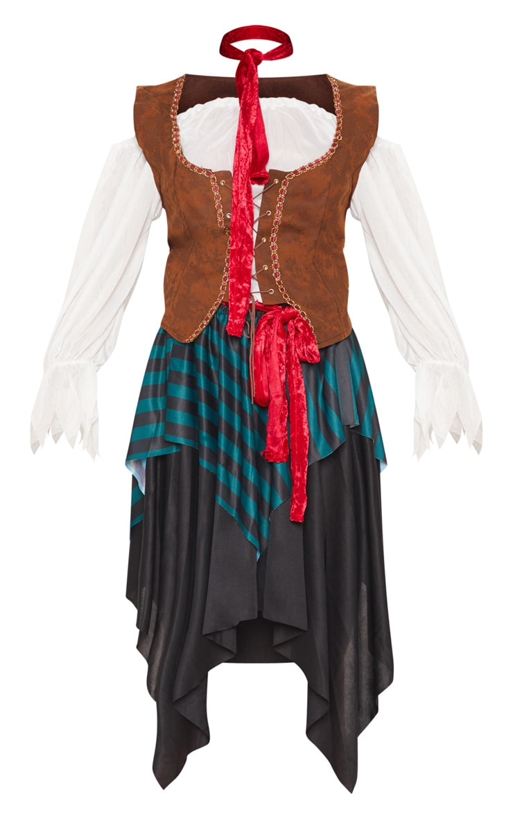 Pirate Lady Halloween Fancy Dress Outfit 3
