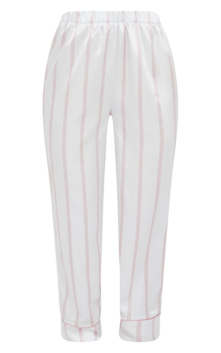 Pale Pink Stripe Mix And Match Satin PJ Pants 5