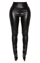 Shape Black PU Split Hem Pants 3