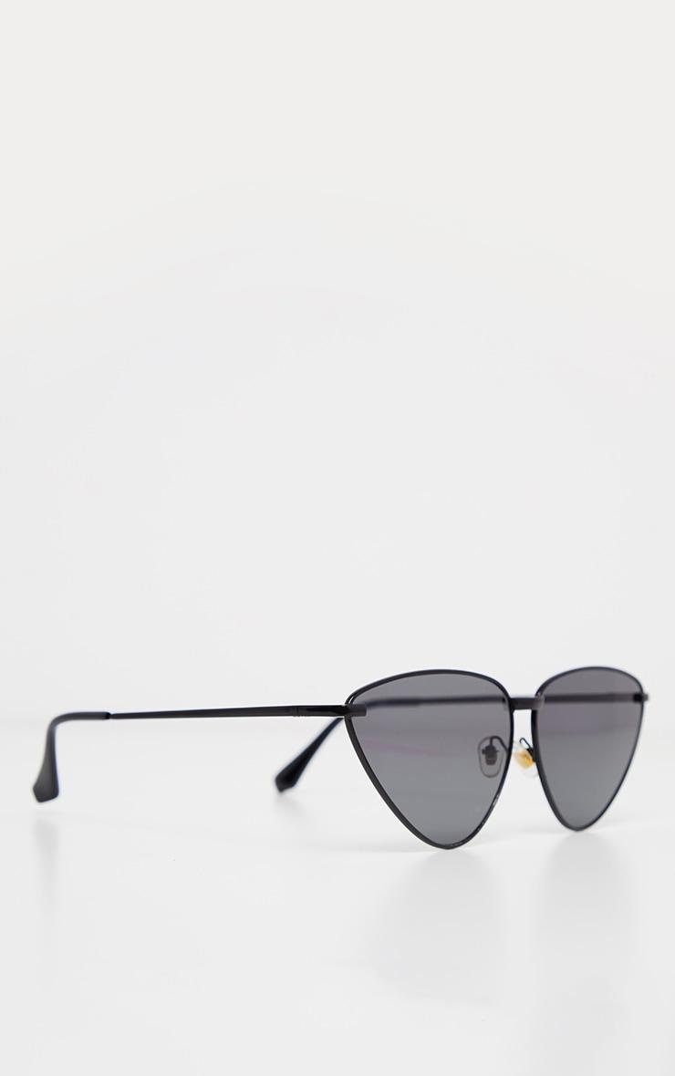 Black Angled Cat Eye Sunglasses 3