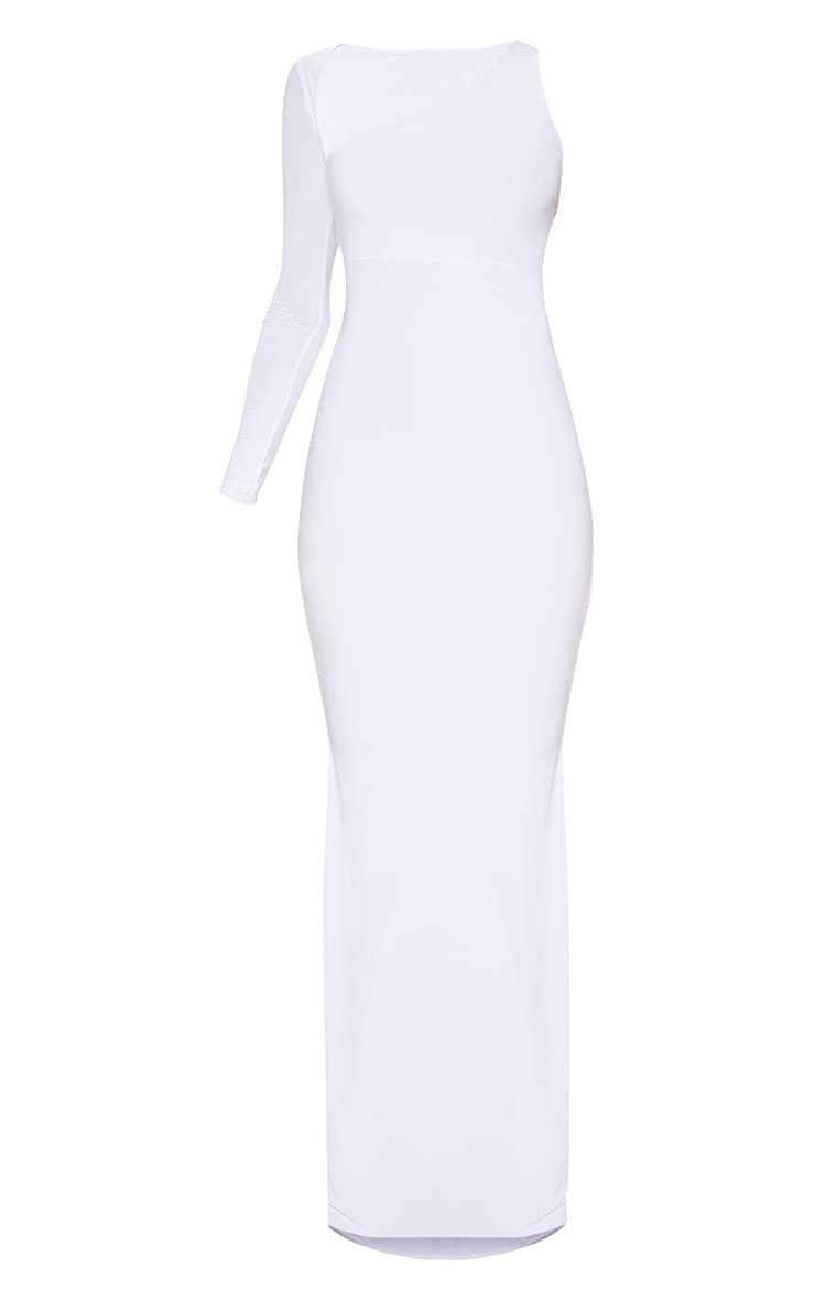 White Wrap Sleeve Maxi Dress 3