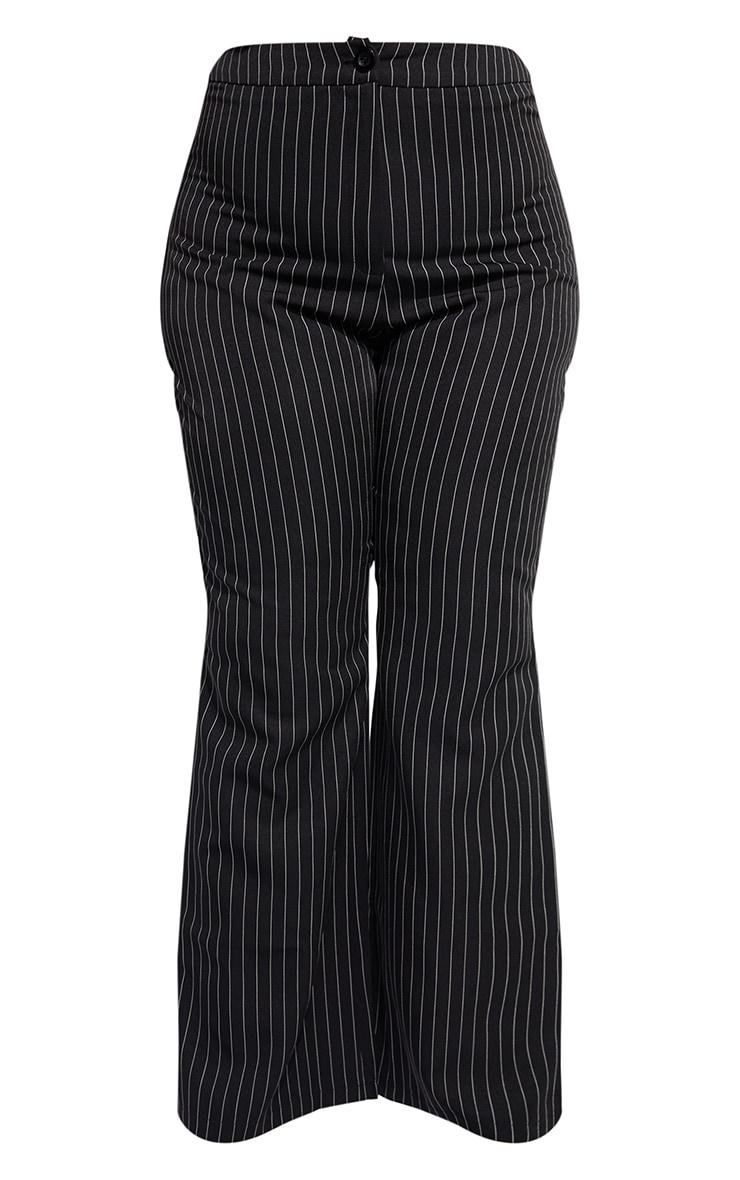 Plus Black Contrasting Pinstripe Pants 5