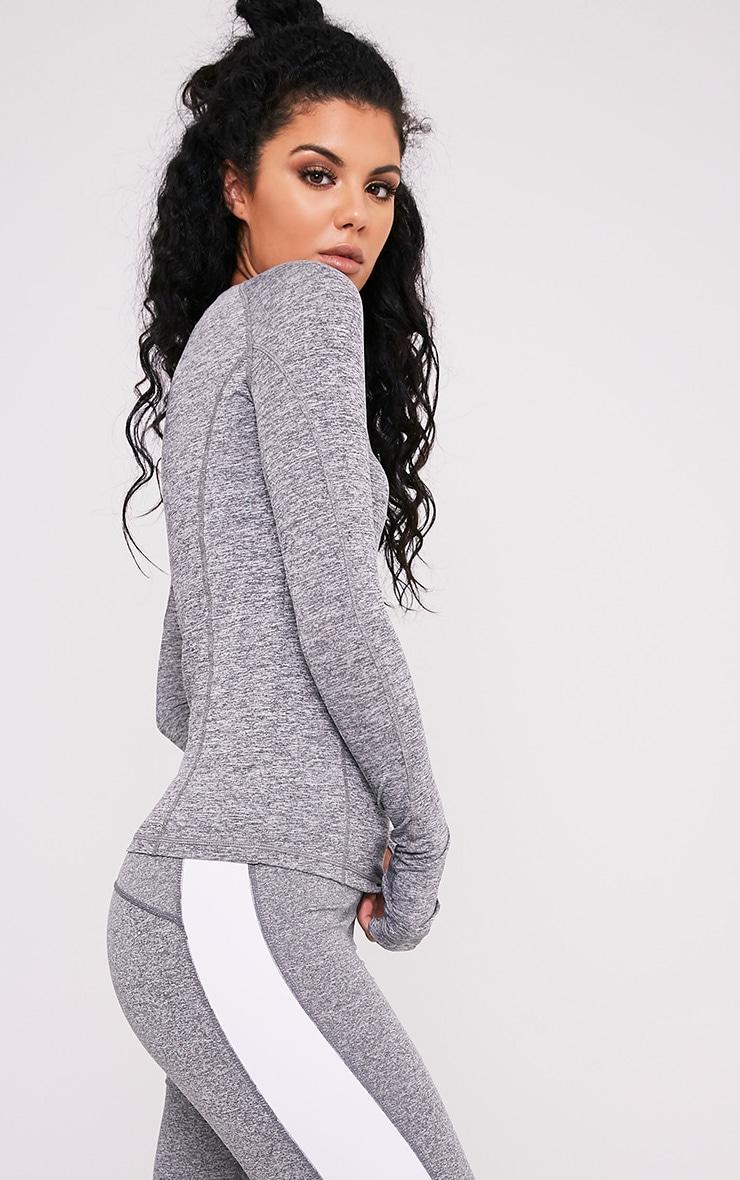 Sania top de gym à manches longues gris 4
