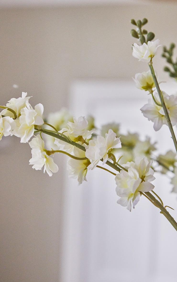 White Silk Double Stem Artificial Flower 2