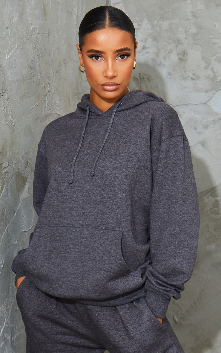 Recycled Charcoal Oversized Sweat Hoodie 1