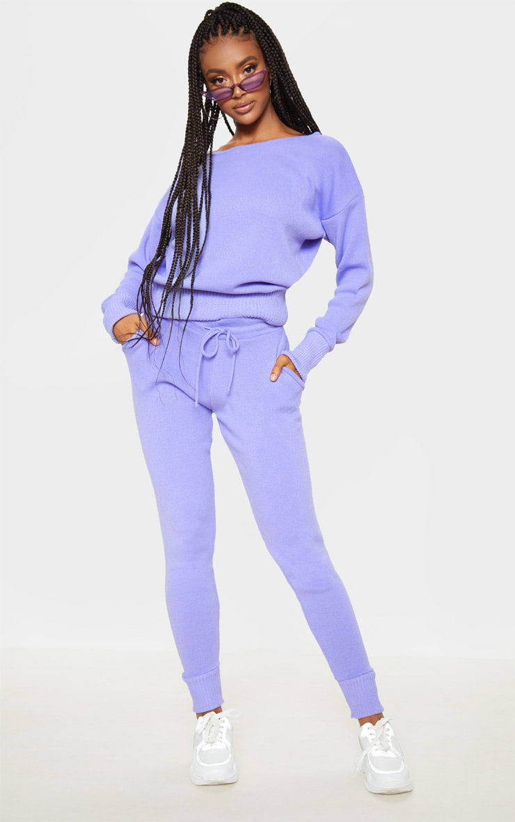Lilac Knitted Lounge Set 1