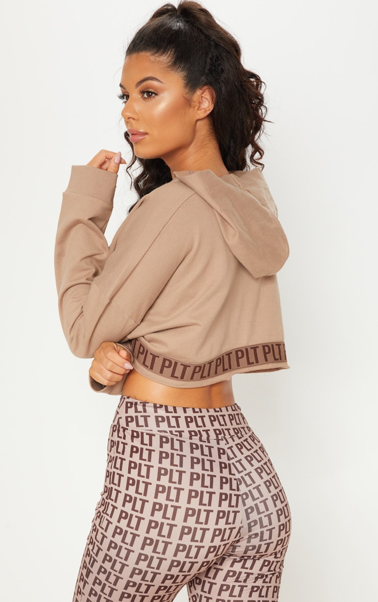 PLT Stone Band Cropped Hoodie 3