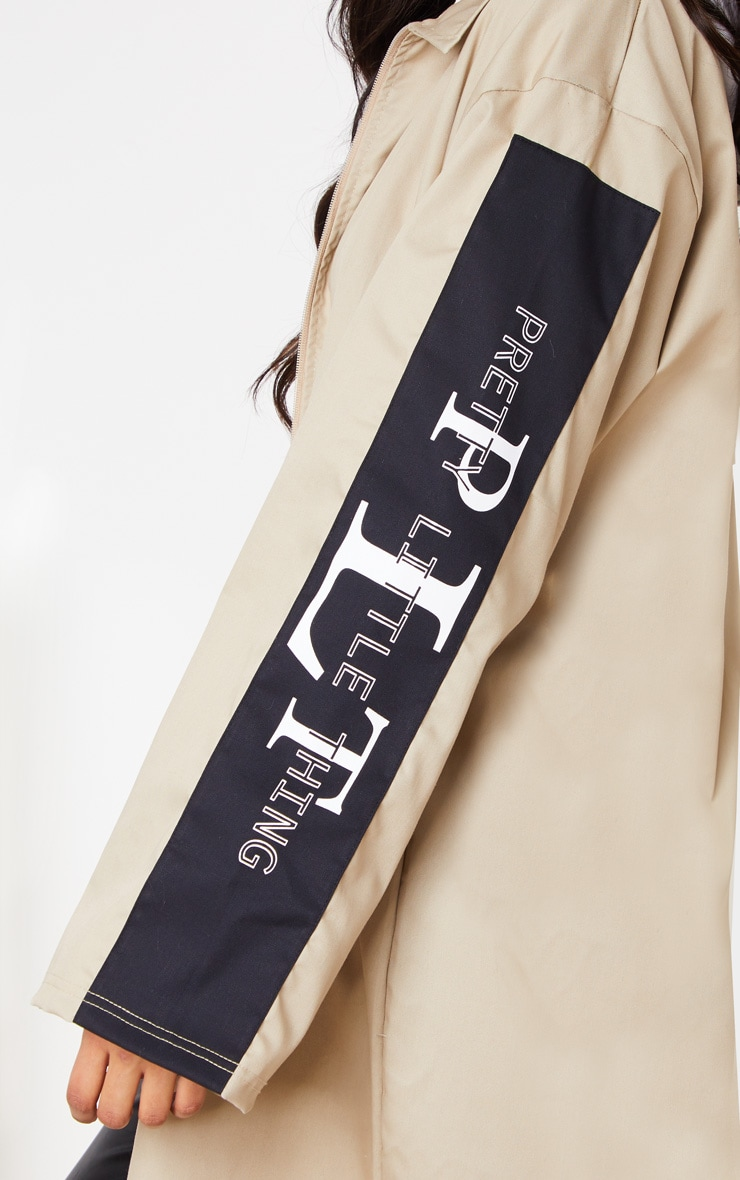 PRETTYLITTLETHING - Trench long gris pierre  6