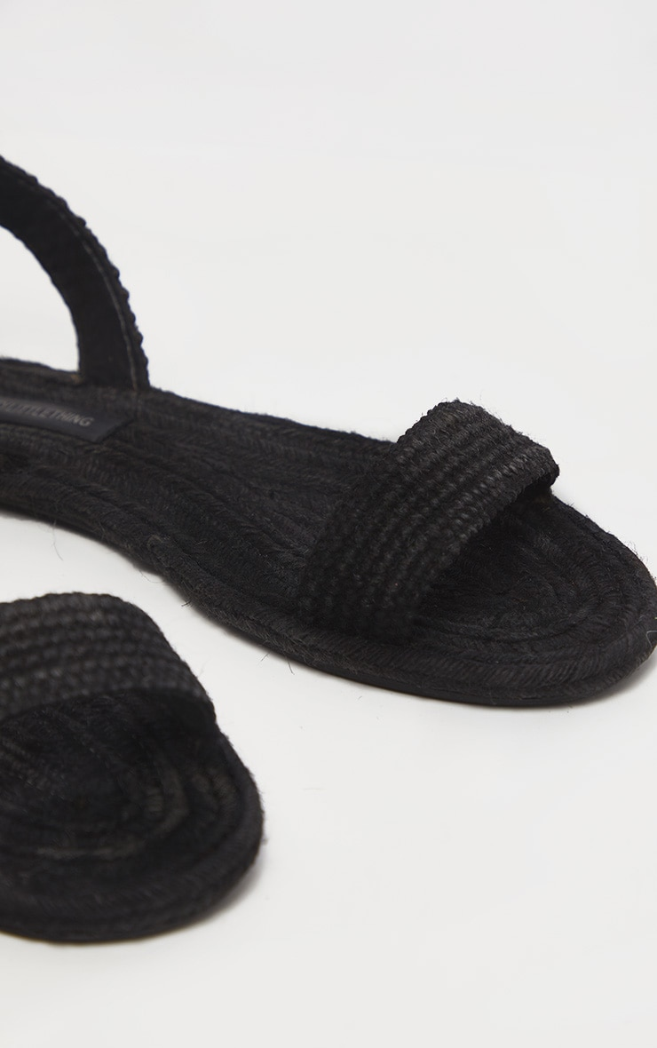 Black Espadrille Lace Up Sandal 4