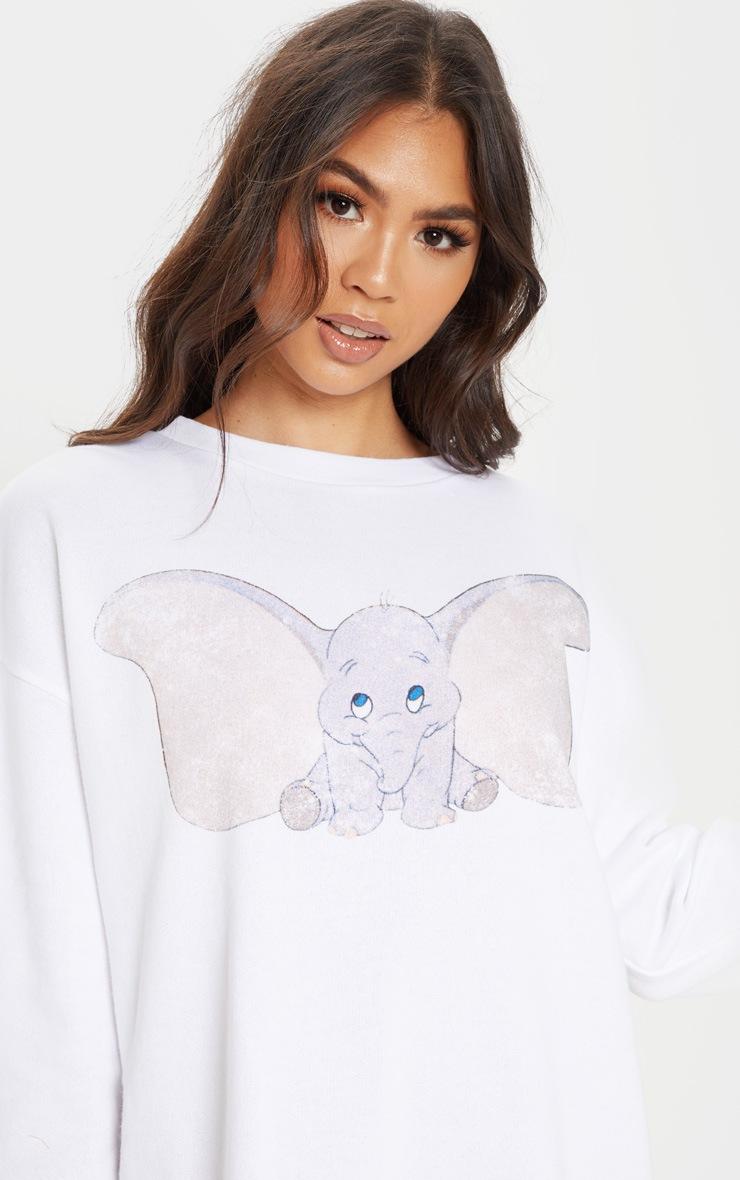White Dumbo Oversized Long Sleeve Jumper Dress 5