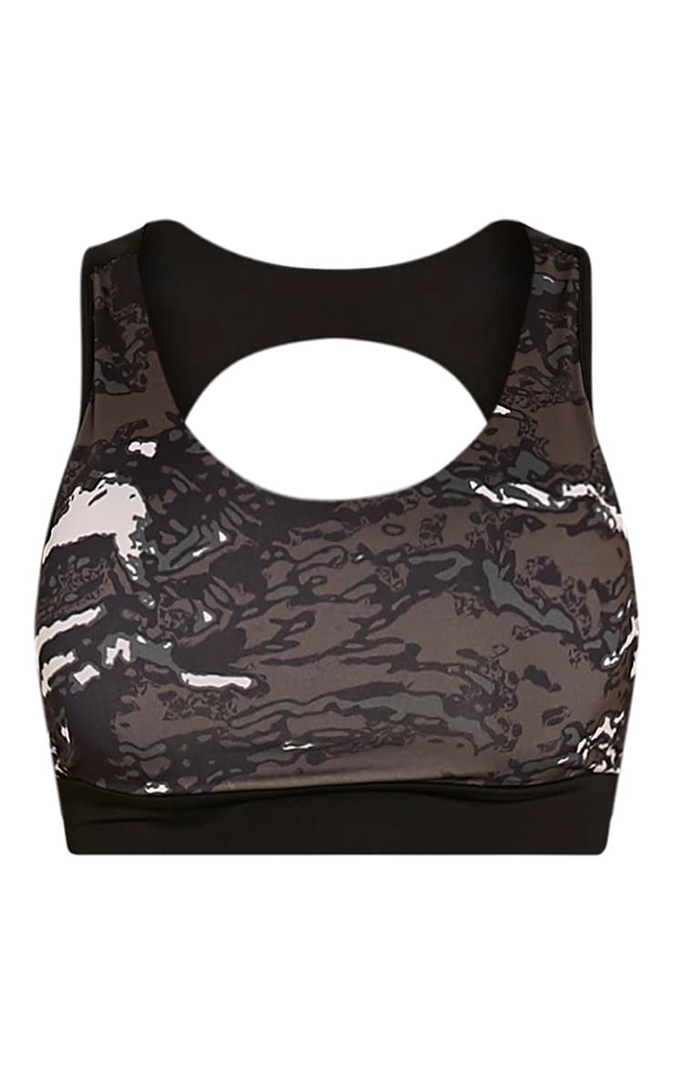 Celine Khaki Camouflage Print Sports Bra 3