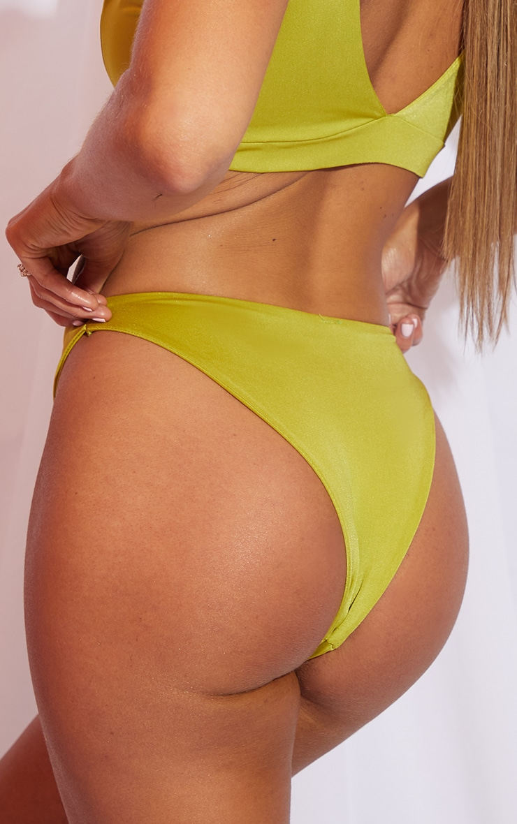 Olive Mix & Match Cheeky Bum Bikini Bottom 5