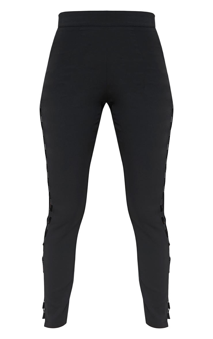 Anetta Black Lace Up Side Skinny Trousers 3