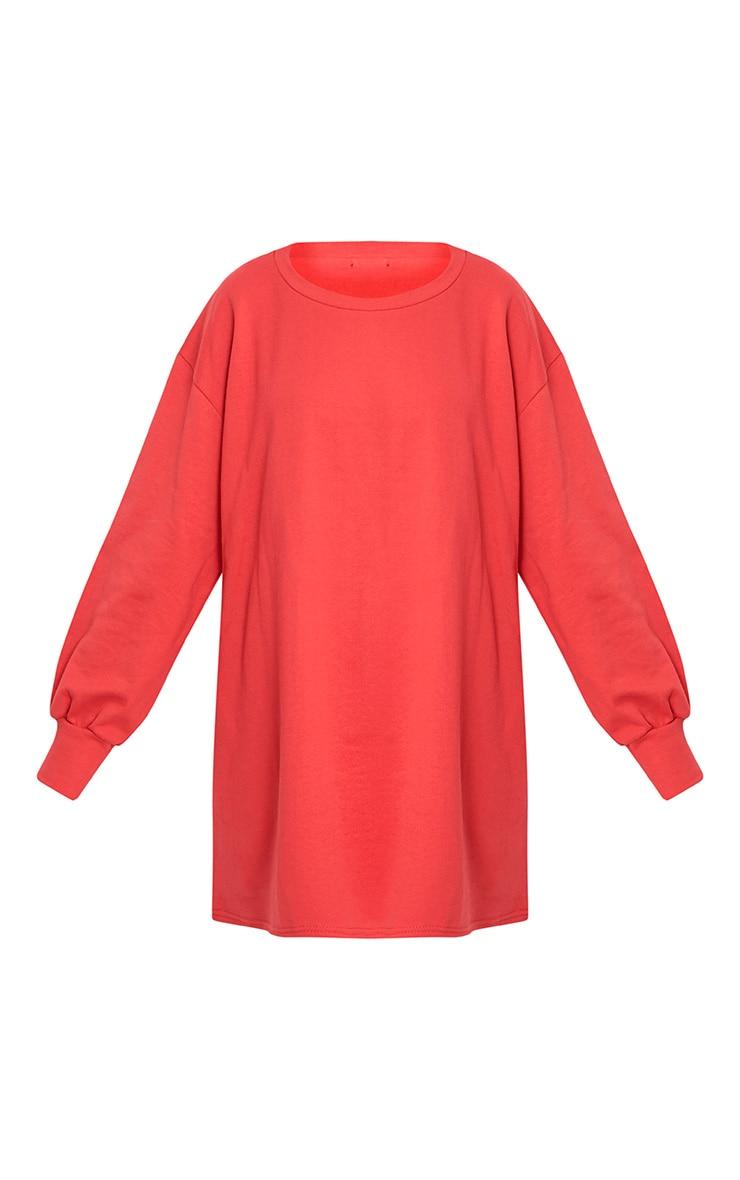 Sianna Red Oversized Sweater Dress 3