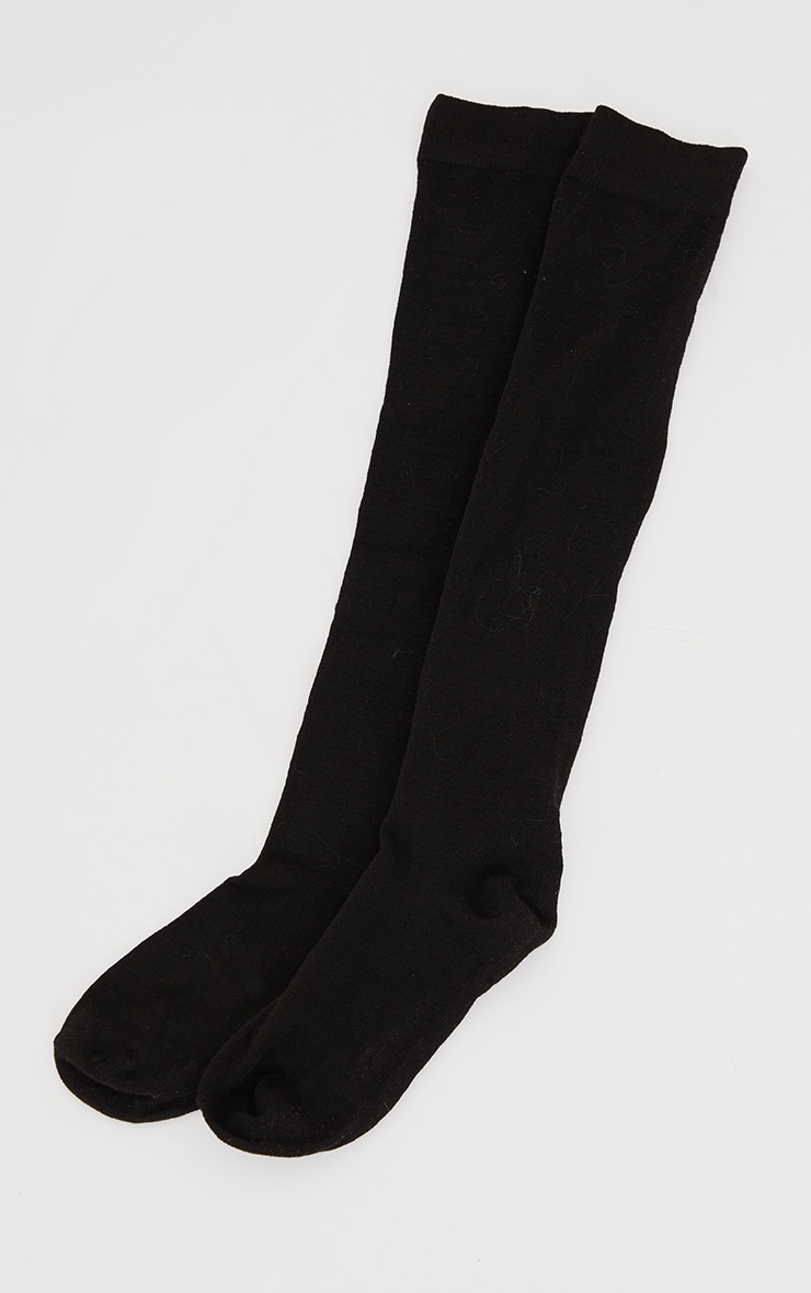 Basic Black Over the Knee Socks 3