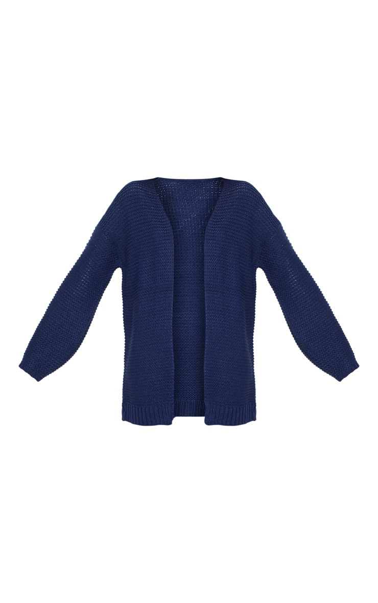 Navy Chunky Knitted Cardigan  3