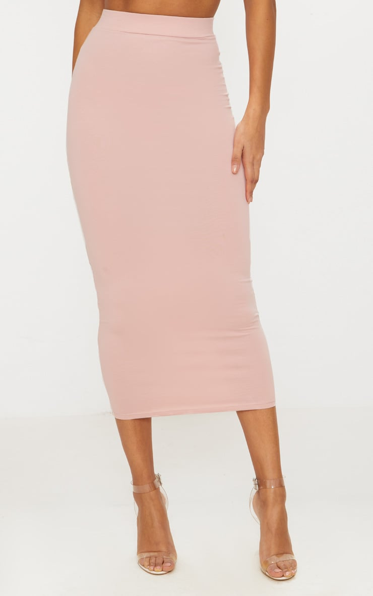 Rose Second Skin Bodycon Midaxi Skirt 2