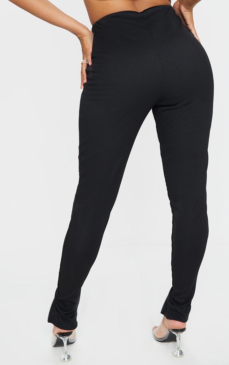 Shape Black Jumbo Rib Zip Side Leggings 3