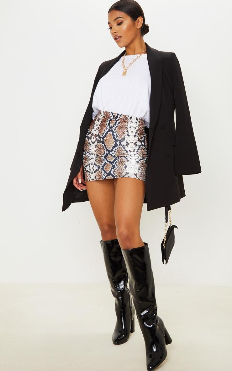 Cloressa Snake Print Mini Skirt 1