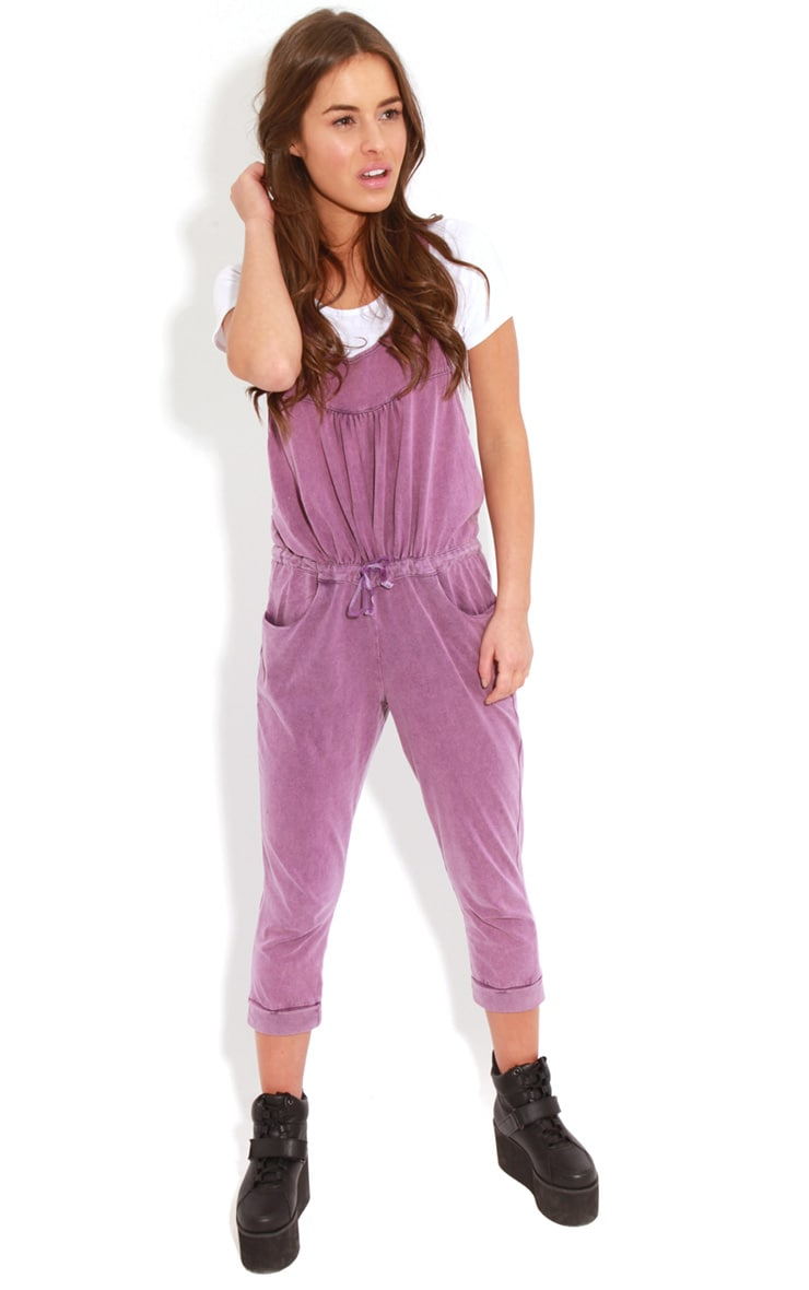 Bianca Purple Drawstring Jumpsuit 3
