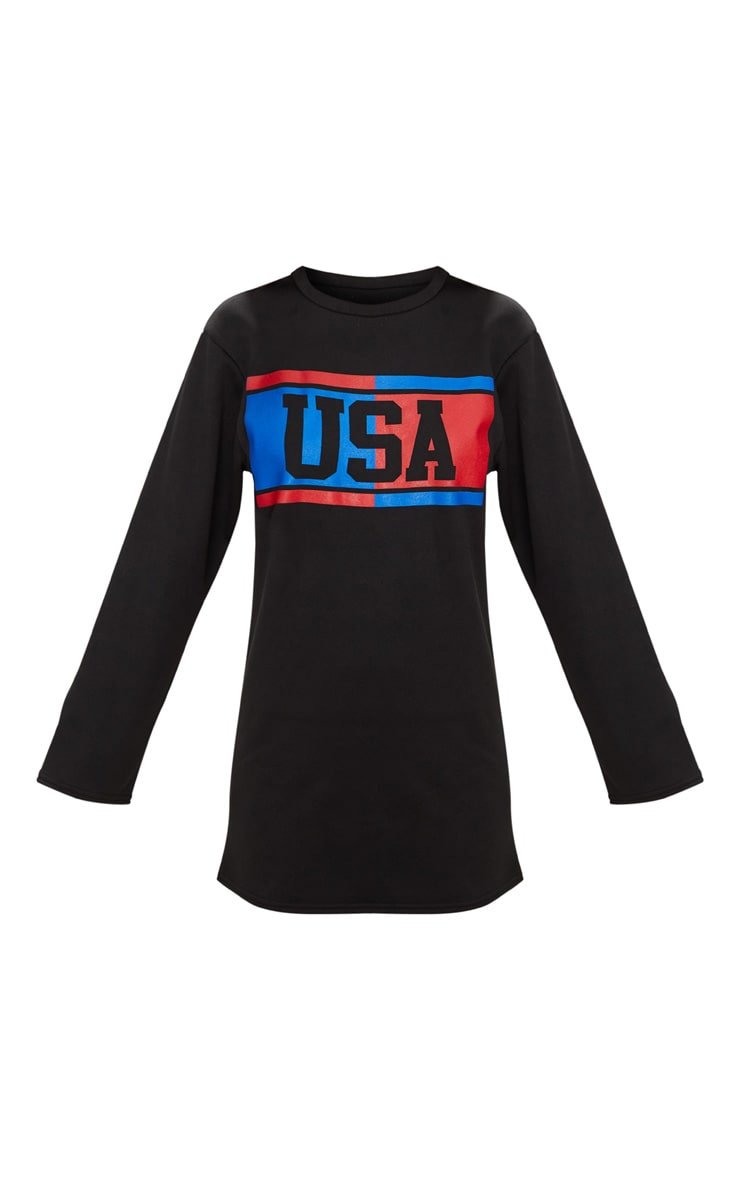 Black USA Jumper Dress 3