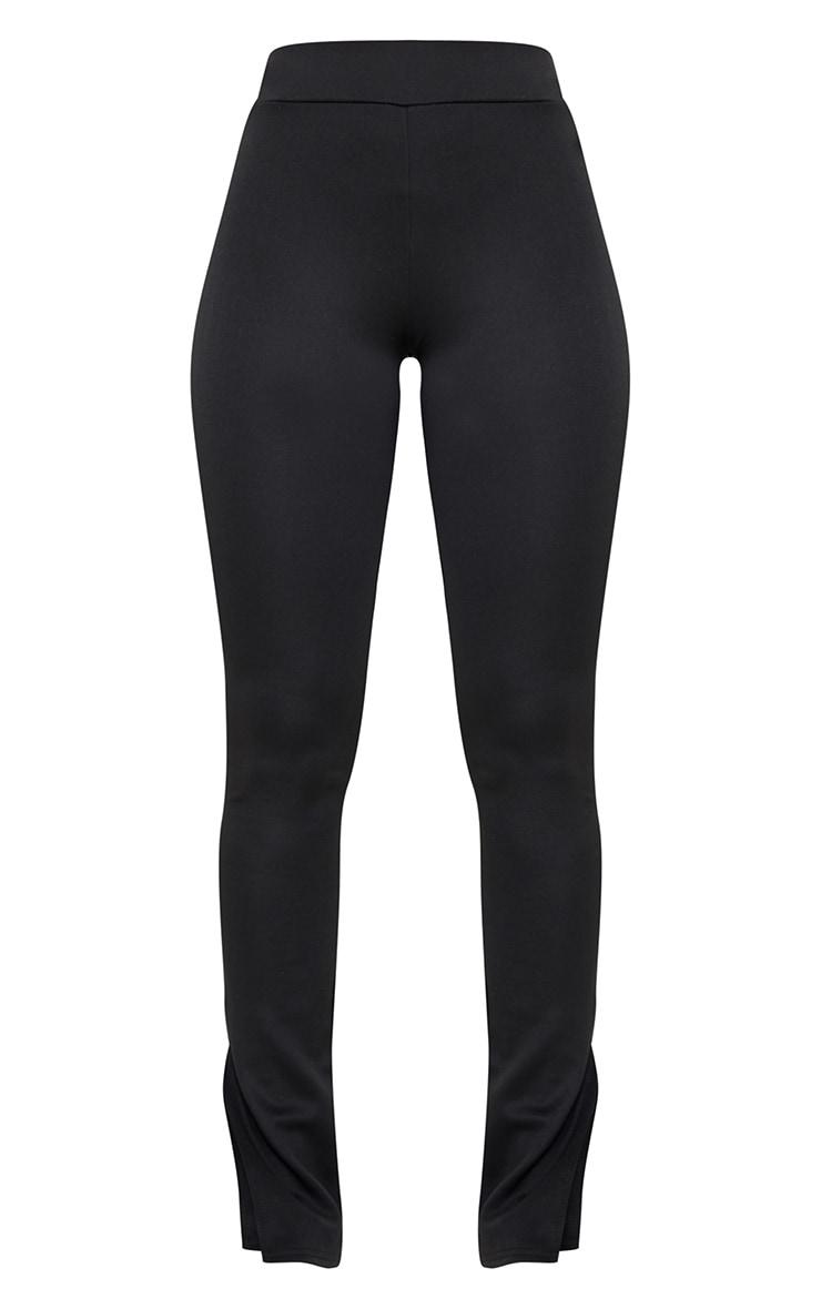 Black Scuba Split Hem Skinny Trousers 5