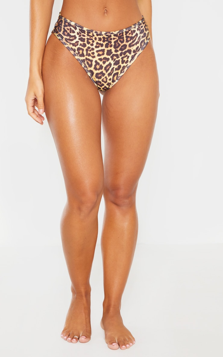 Leopard Mix & Match V Front Brazilian Bikini Bottom 2