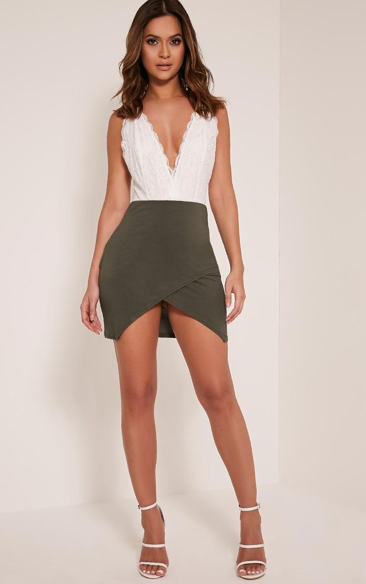 Myla Khaki Wrap Mini Skirt 6
