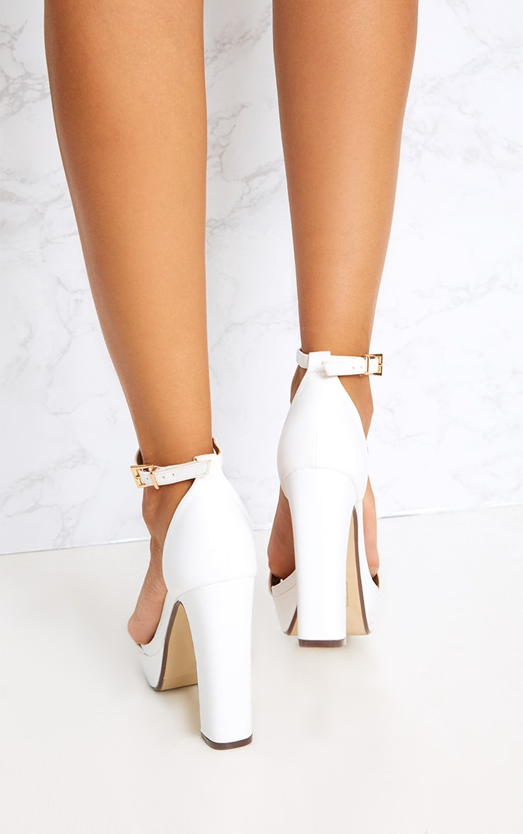 Taya White PU Platform Sandals 4