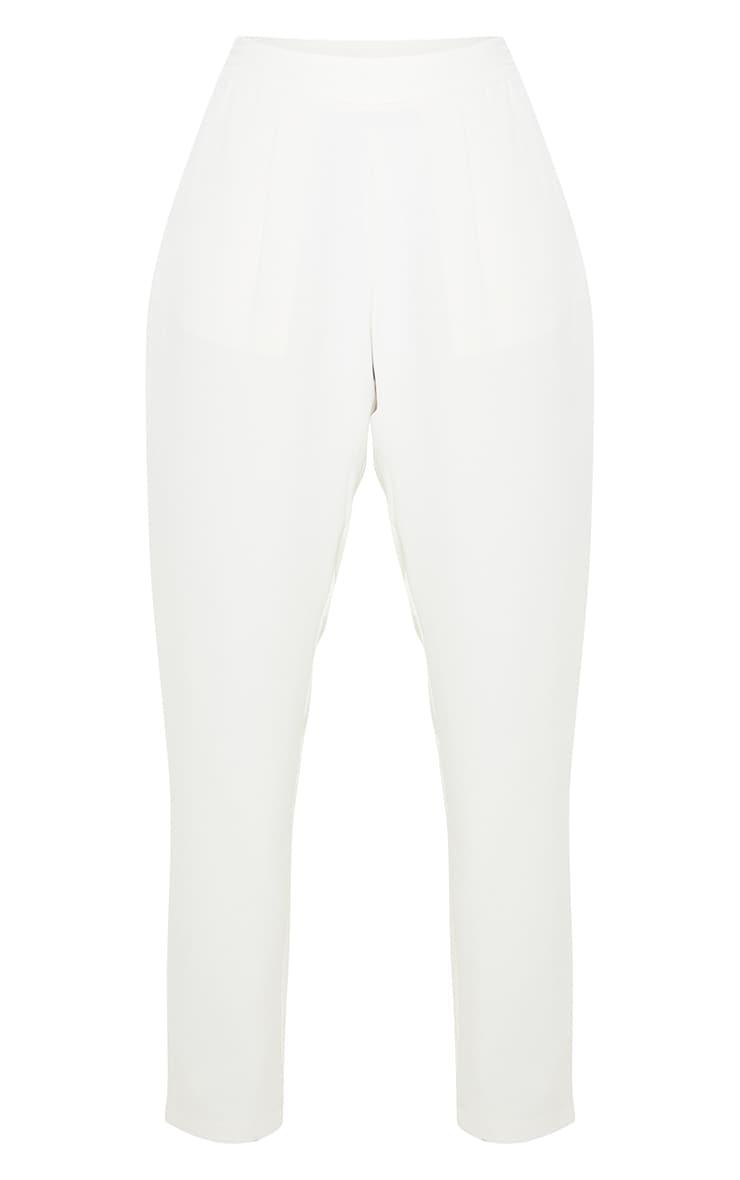 Pantalon à pinces crème 3