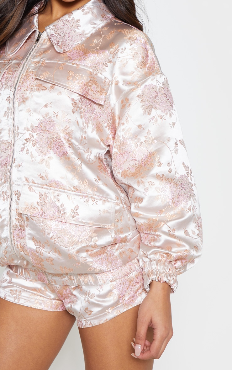 Blush Oriental Embroidered Bomber 5