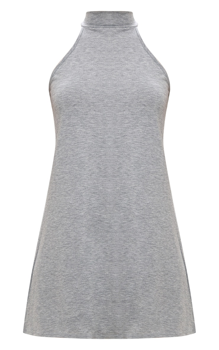 2 Pack Black & Grey Jersey High Neck Swing Dress 2